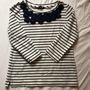 Lands' End Embroidered Top